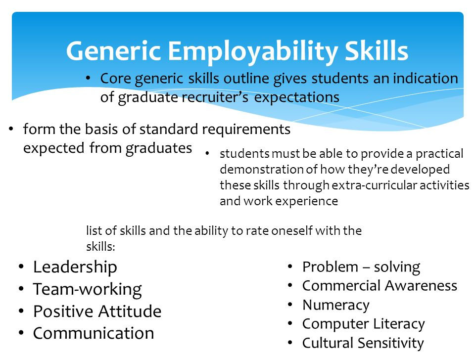 skills and employability requirements of today Learn how employability is affected by market and economic conditions find out how soft, hard, and technical skills affects a person's employability.