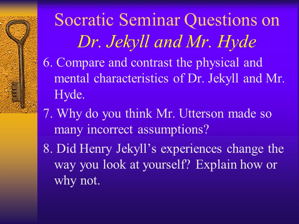 questions and answers on dr jekyll Homework solved step-by-step answers to all your high school and college homework free so you'll be alright you'll make it through another night.