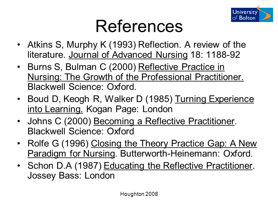 reflective review of learning Reflective practice: history and frameworks literature review  literature review  reflection on experience is a crucial part of adult learning reflective practitioners have to be.