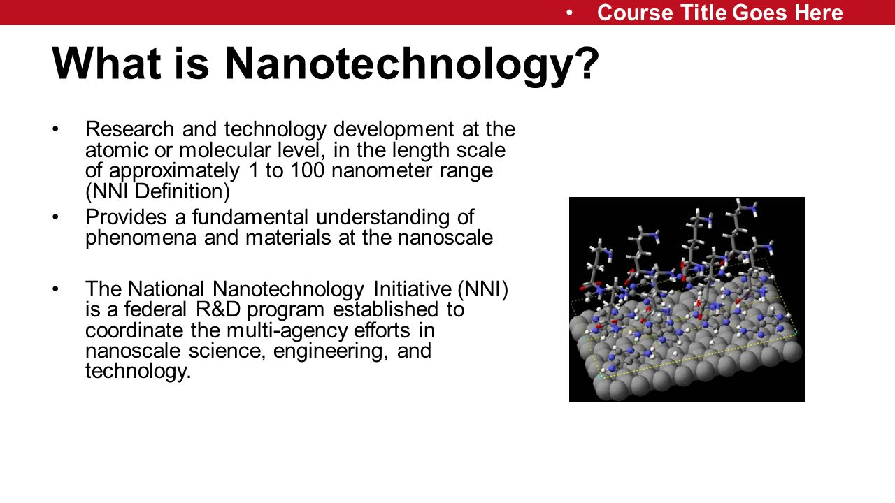 what is nano technology