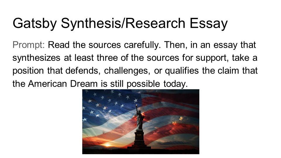 american dream ap synthesis essay