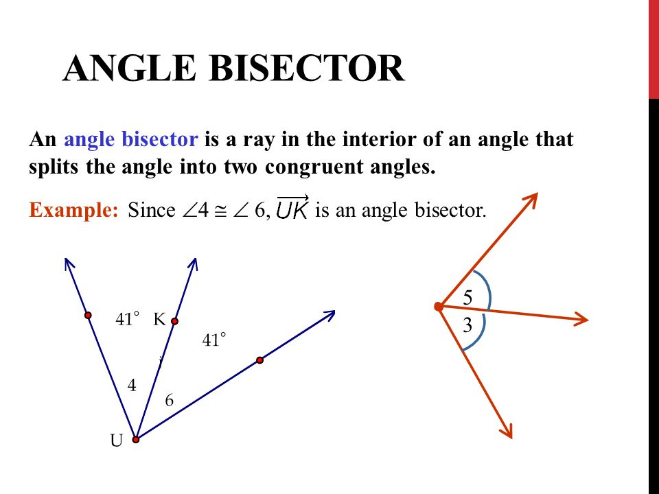 4/26/2017 Angle Bisector. An Angle Bisector Is A Ray In The