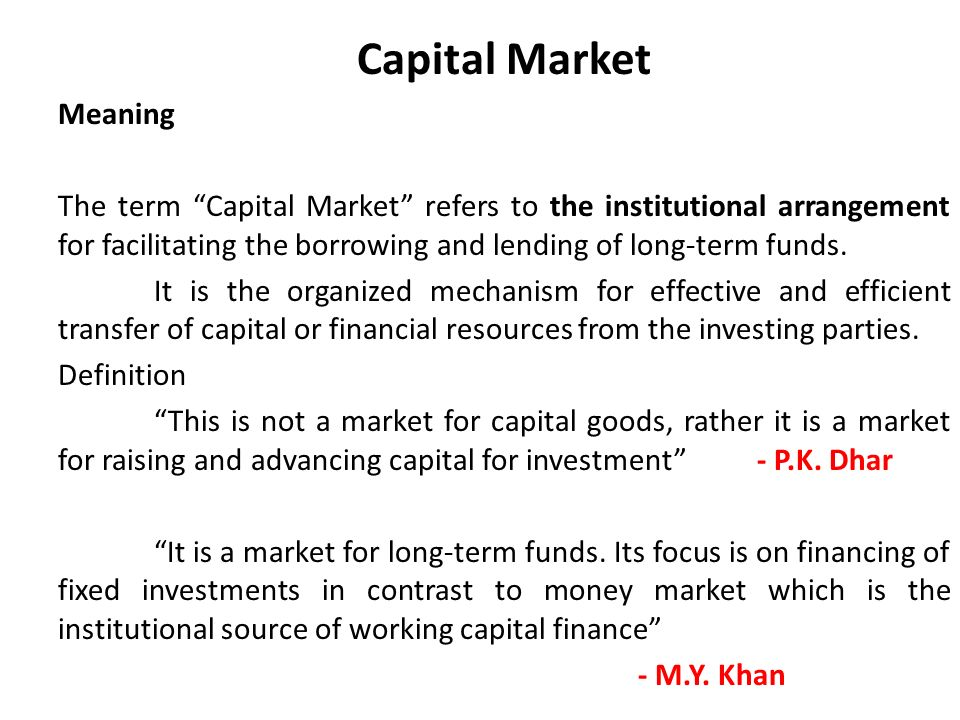 role of capital markets in sme Although the dot-com bubble and the financial crisis also halted the development  of minor markets, the importance of sme markets is.