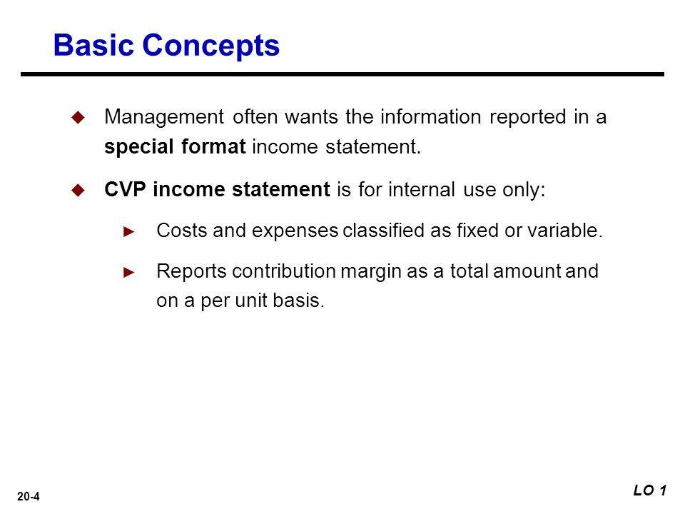 20 Cost-Volume-Profit Analysis: Additional Issues - Ppt Download