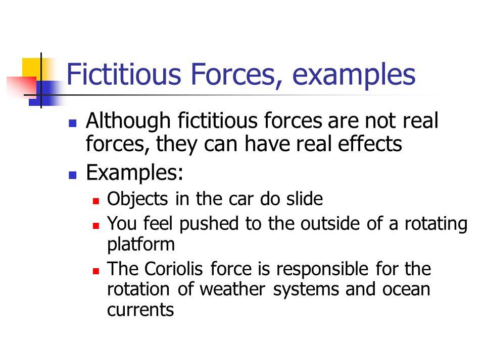 47 Fictitious Forces ...