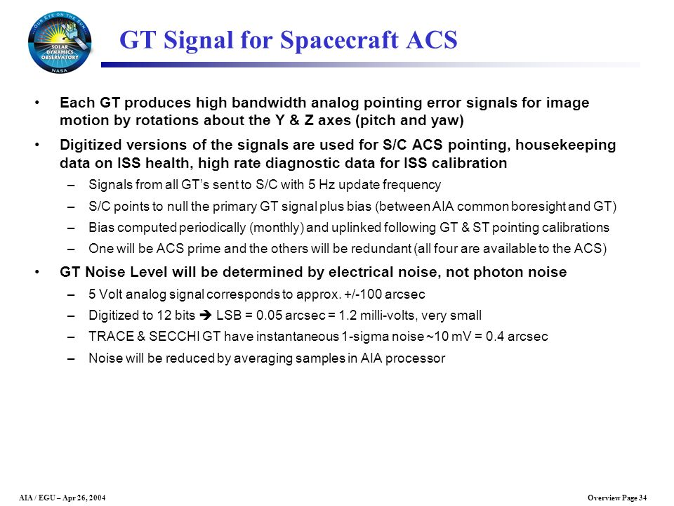 GT Signal for Spacecraft ACS