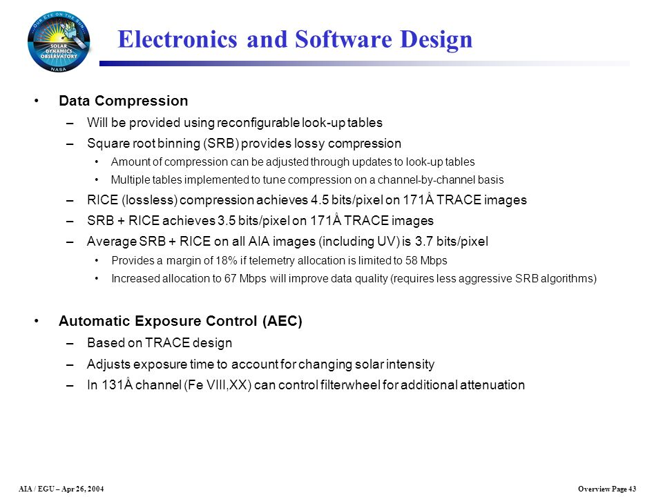 Electronics and Software Design