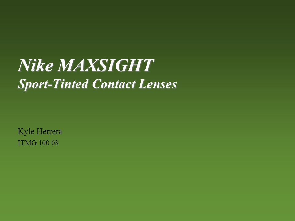 new arrival a1622 8e8fc Nike MAXSIGHT Sport-Tinted Contact Lenses