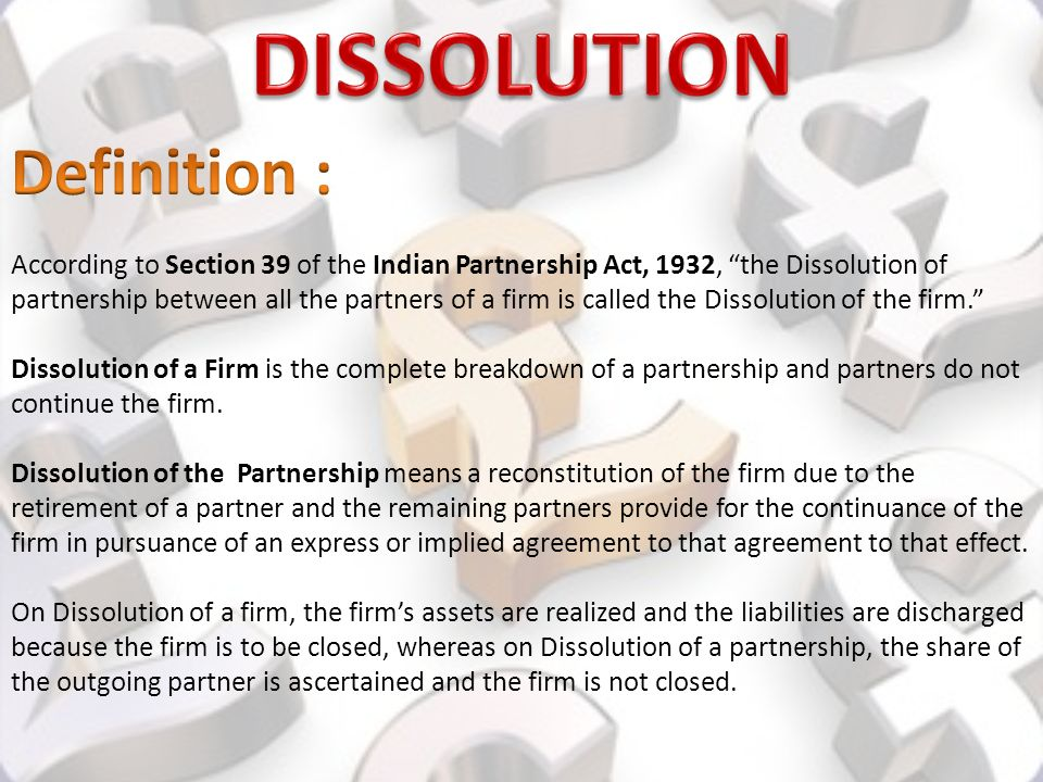 Partnership Accounts- Dissolution, Insolvency, sale to a Company ...