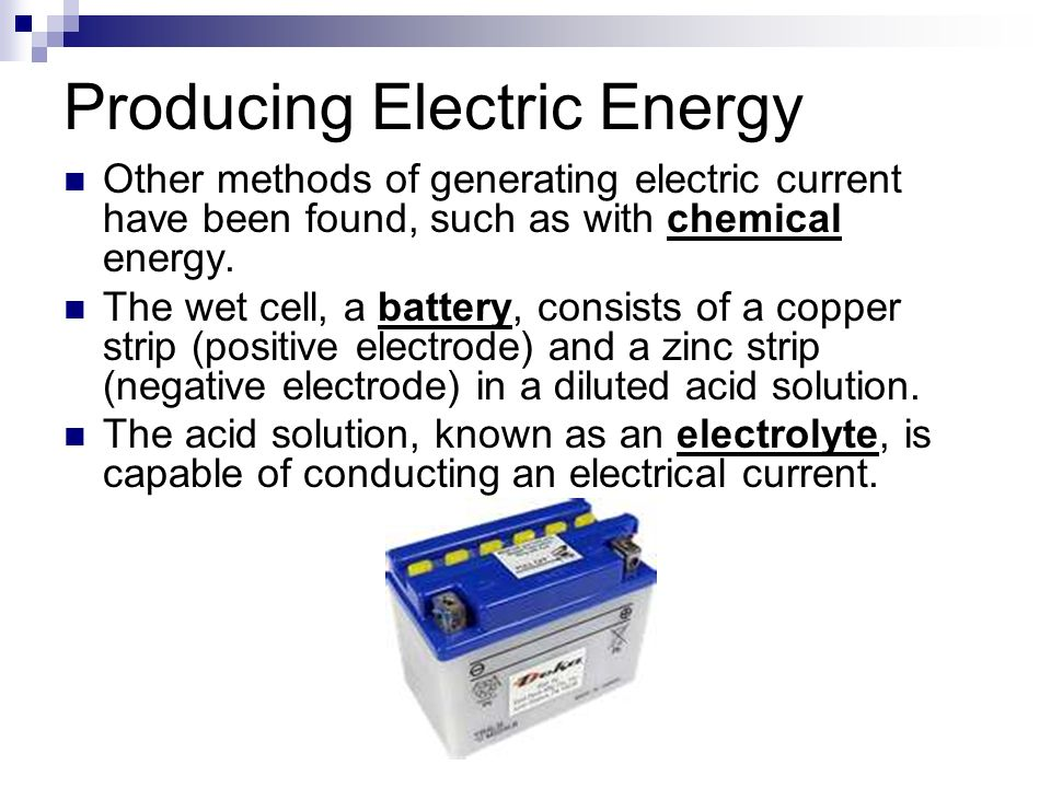 methods of producing electricity pdf