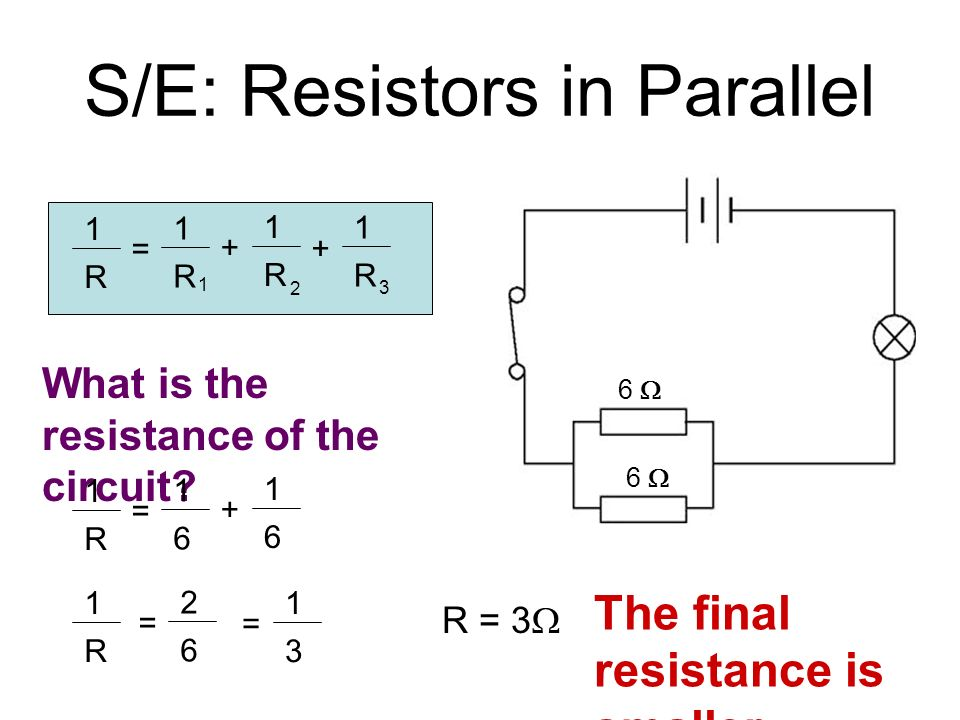 how to find resistance in parallel circuit