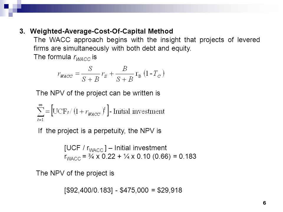 apv and wacc Apv vs wacc - free download as pdf file (pdf), text file (txt) or read online for free.
