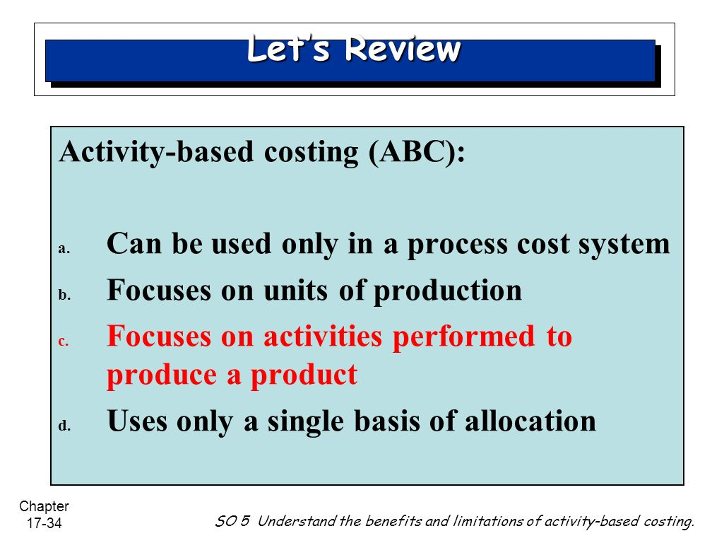 abc costing in nhs summary Activity based costing (abc) to improve efficiency by one healthcare organization part of the uks national health service this study reveals the challenges.