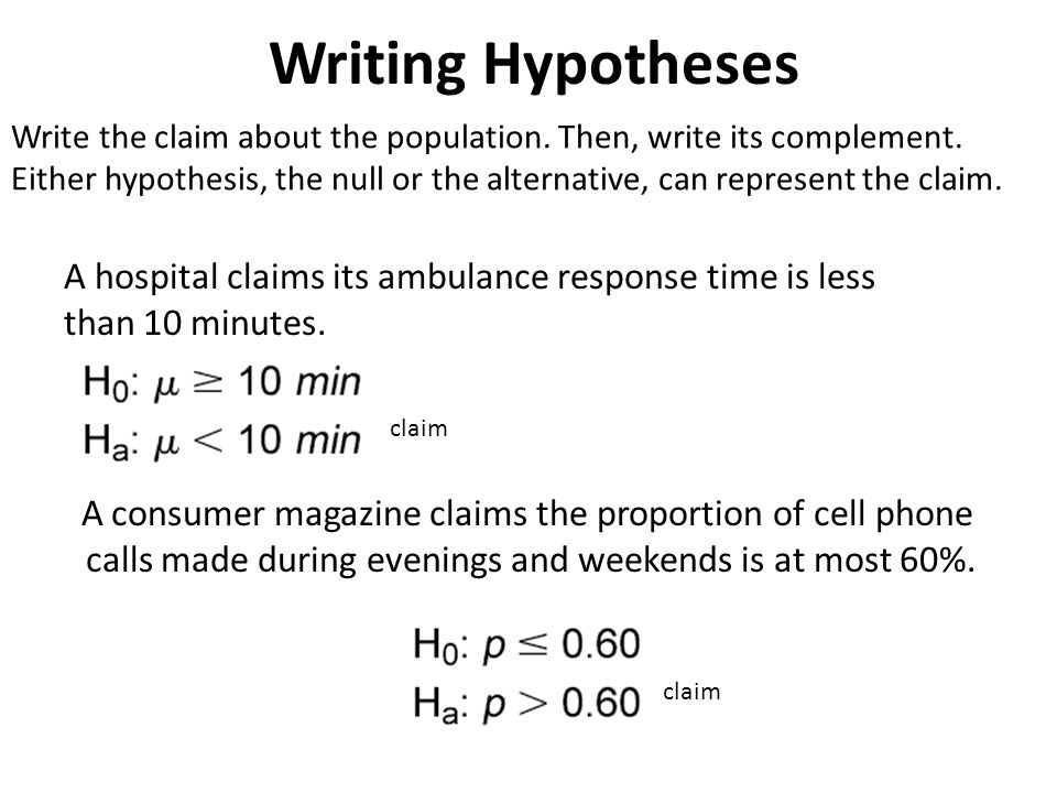 writing a null hypothesis Hypothesis writing: examples experiment or correlation experiment correlation null – predicts that the there will be.