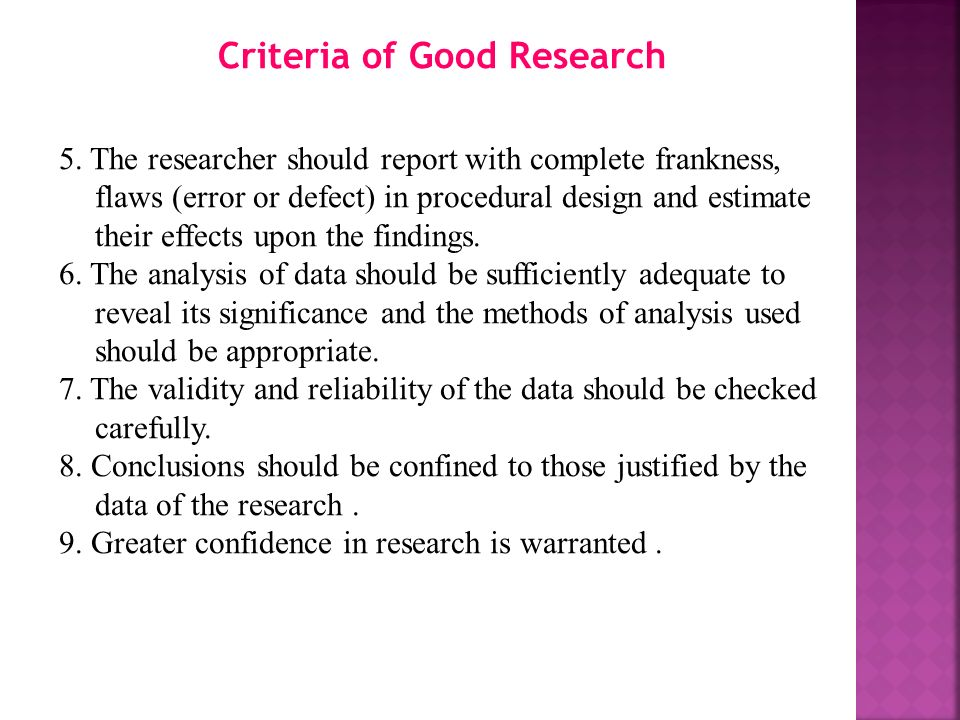 criteria of good research Inclusion/exclusion criteria sampling ∗ good schematic diagrams and tables writing an effective research proposal writing an effective research proposal.