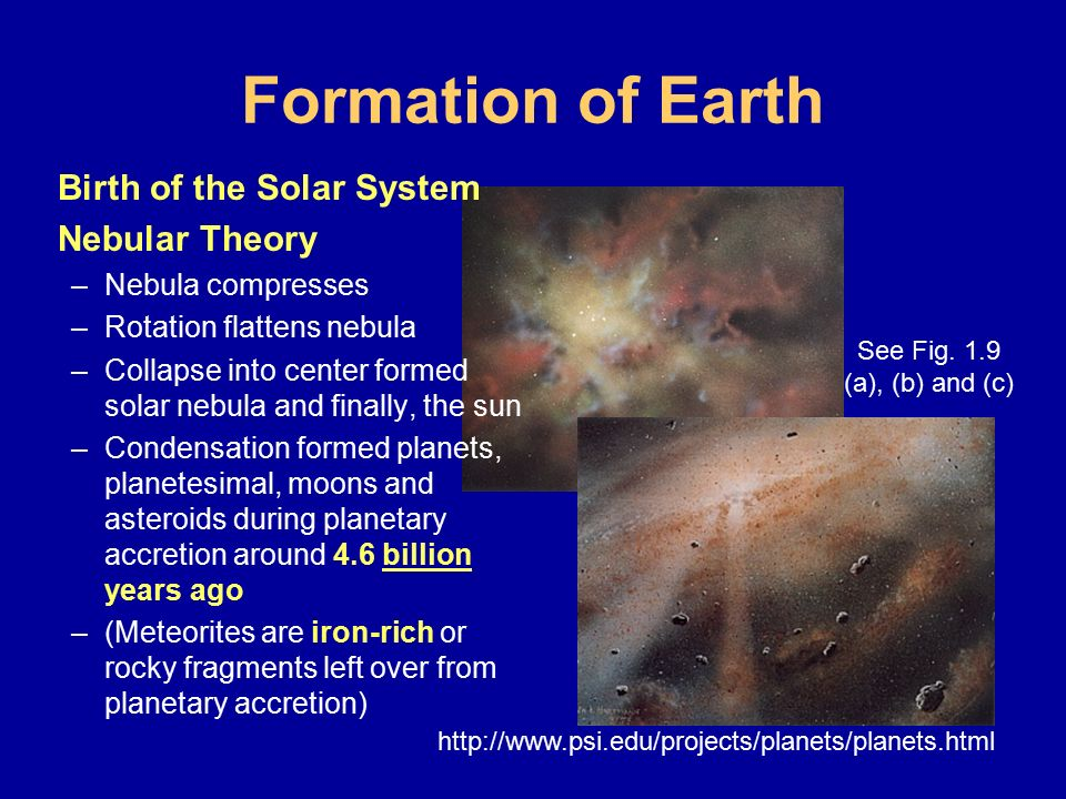Formation of Earth Birth of the Solar System Nebular Theory - ppt ...