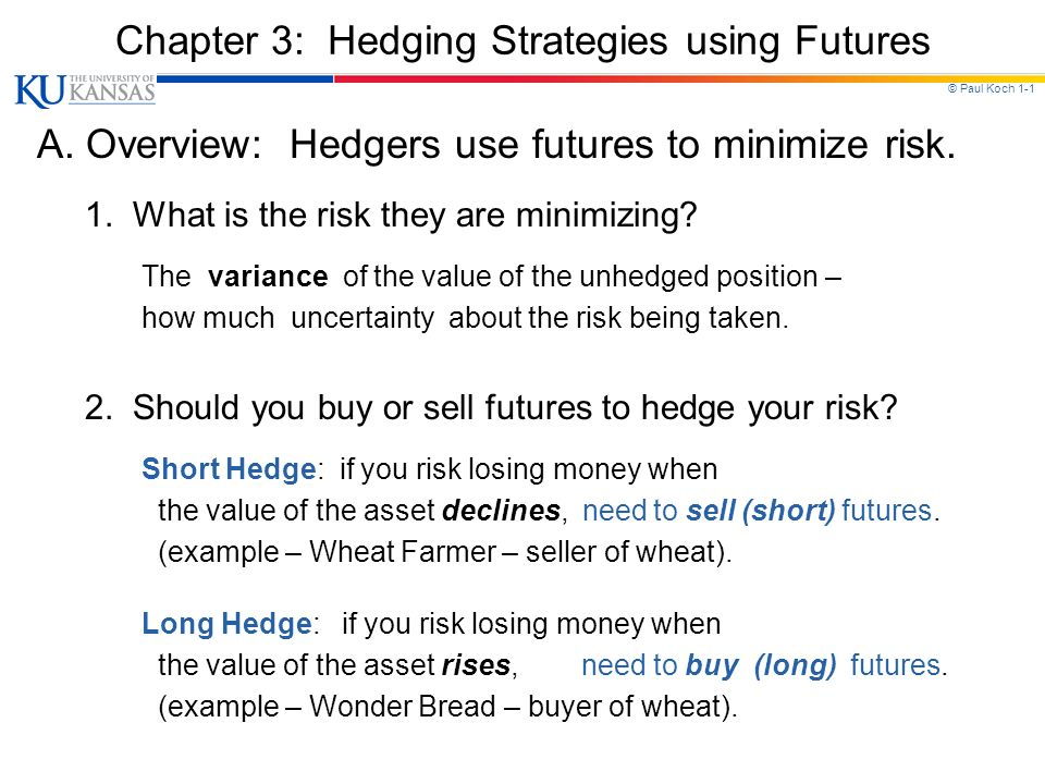 short futures hedge