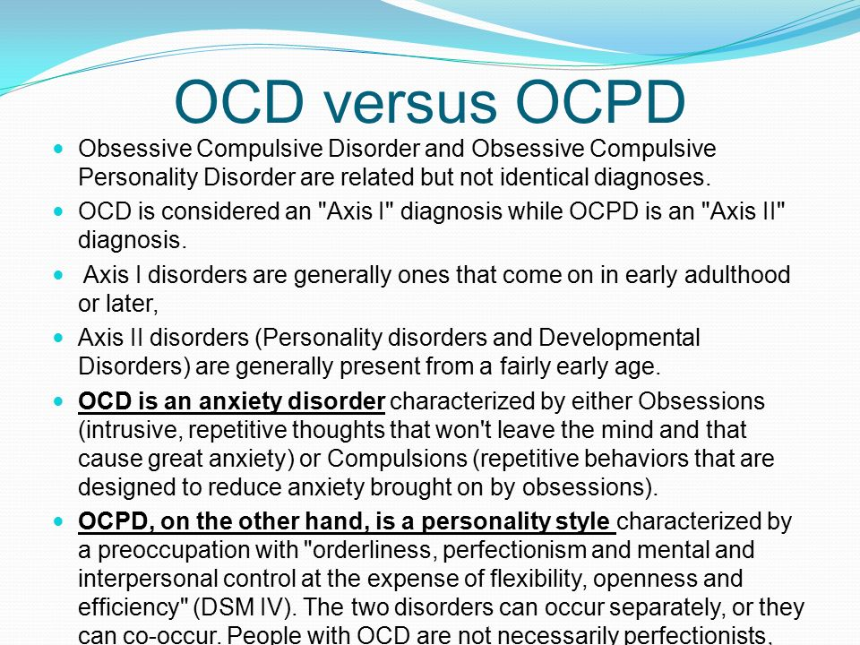 obsessive compulsive personality disorder essay Identifying ocd warning signs and symptoms is the best way to avoid the negative effects that obsessive compulsive disorder can cause sierra tucson.