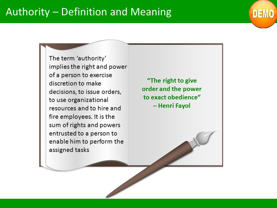 Authority – Definition and Meaning
