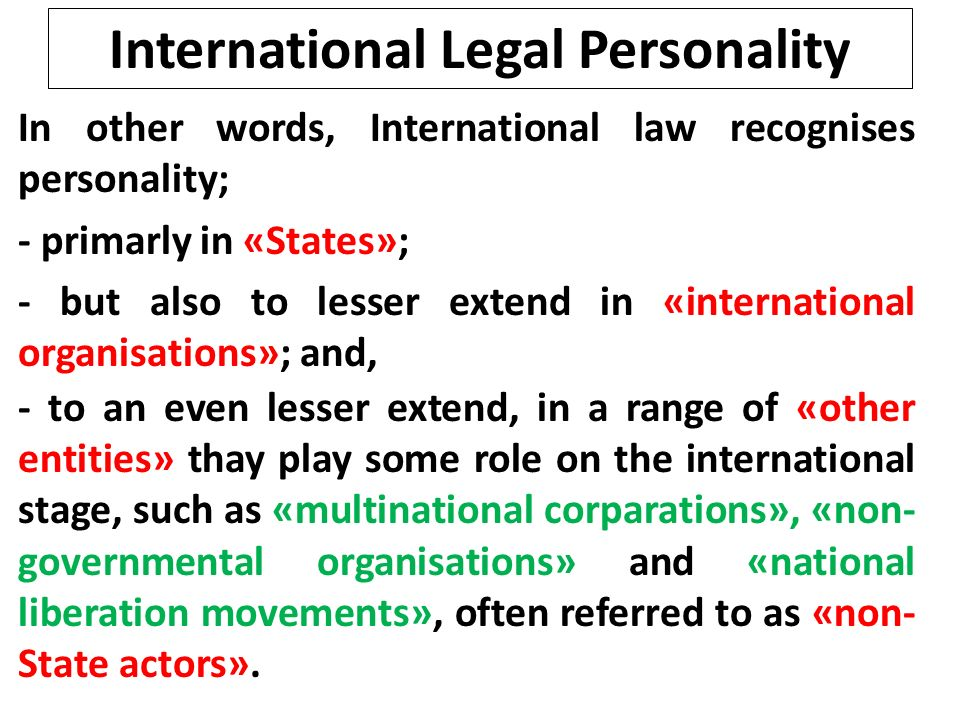 the characteristics and application of international law Sources of international law: scope and application 3 different forms of legal authority interact in other words, they are closely interrelated • the current system of international law sources,.