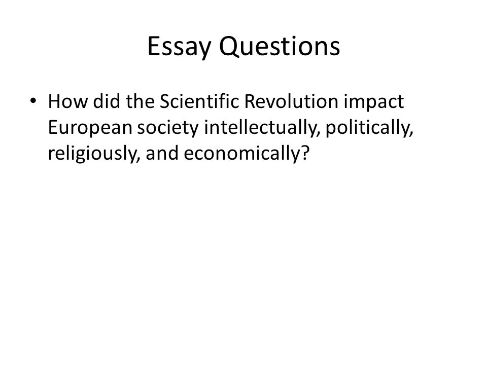 Scientific Revolution of 1500's-1600's Essay Sample