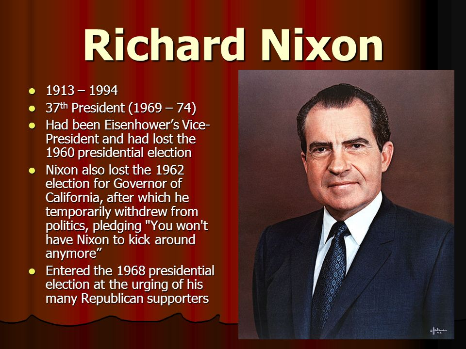the political career of richard nixon Richard nixon graduated from whittier college in california and then won a scholarship to duke university where he studied for a law degree he opened his own law firm after graduating in 1937 he worked for the office of strategic services for a few months in 1939 and then served as a naval officer until 1946.