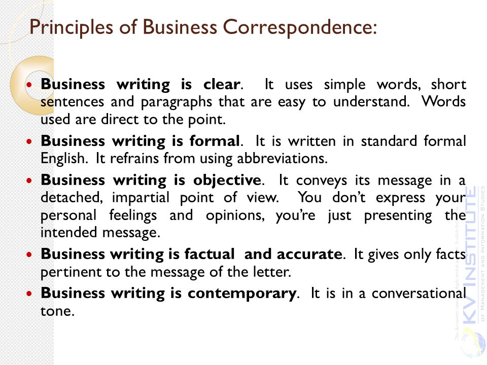 business essays business correspondence communication Business correspondence can take place between organizations, within organizations or between the customers and the organization the correspondence refers to the written communication between persons.