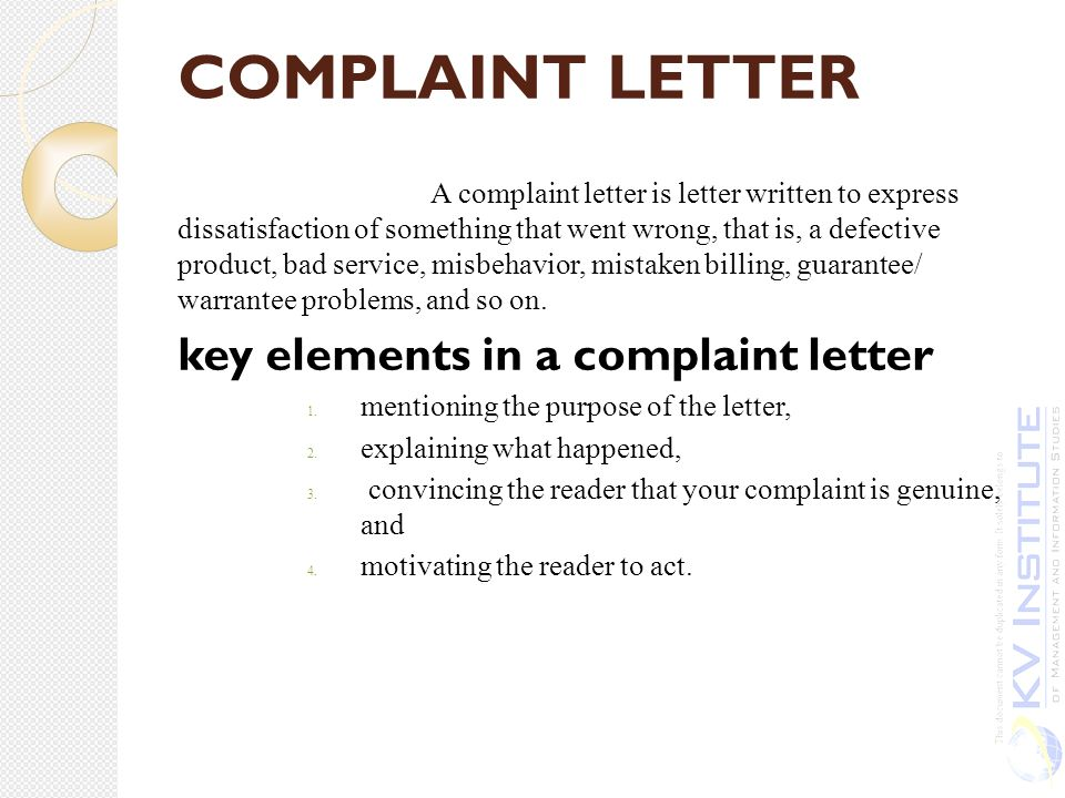 unit iv ppt  51 complaint