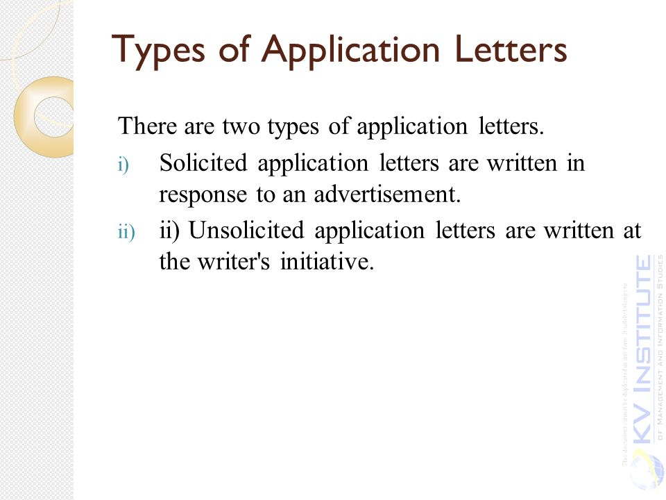 types of application letter solicited and unsolicited Best answer: a solicited letter is written when a former employer, professor or what is the difference between solicited and unsolicited job letters.