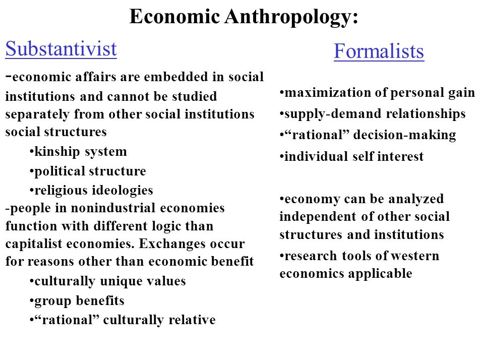 research in economic anthropology Research and teaching interests archaeology of complex societies social inequality economic anthropology andes, polynesia, and europe biography.