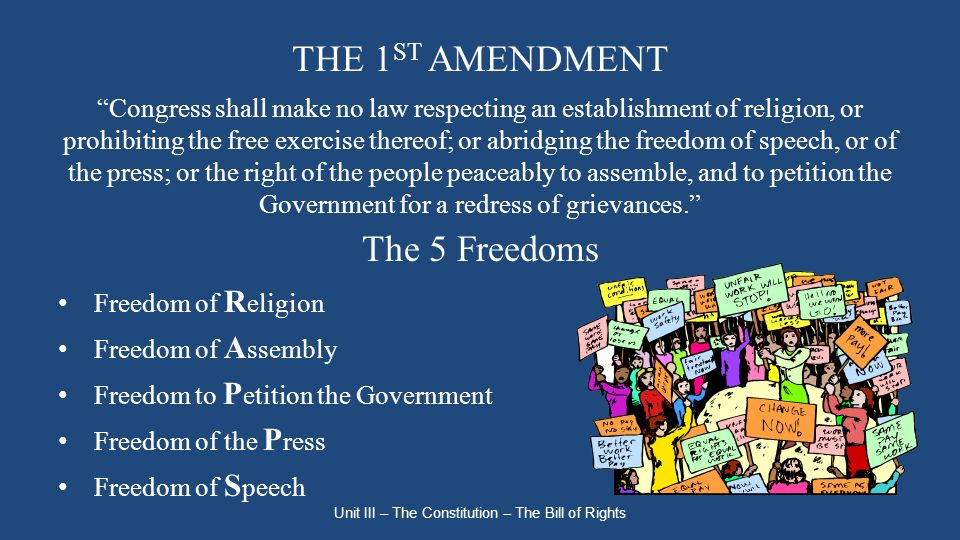 unit 3 bill of rights 2018-8-20 this lesson plan helps students identify why the bill of rights, ratified on december  step 3: pass out the copies of the bill of rights  part of this unit plan.