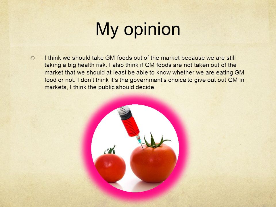 opinion on gmo The post's view: genetically modified crops should be part of  the best of the  post's opinions and commentary, in your inbox every morning.