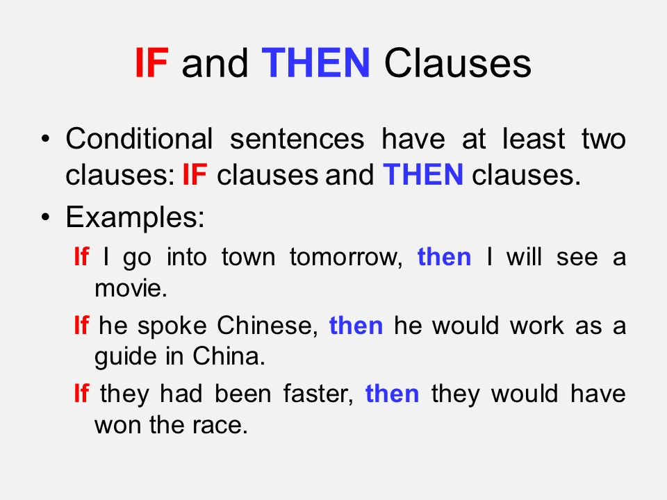 conditional sentences copy When you write if-sentences (also called conditional sentences), you often do  not  to make things simple, let's say there are 2 kinds of conditional sentences : true  this lesson may only be copied and may only be used in a classroom for .