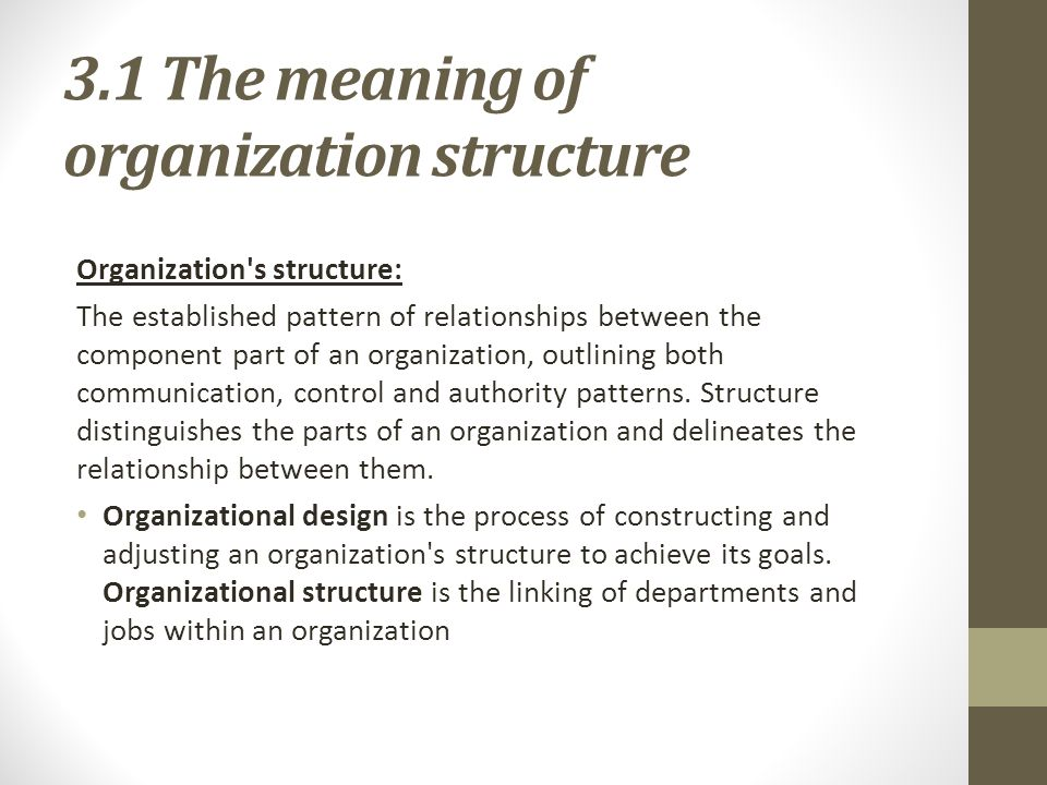 outlining an organizations structure essay Structure and organization are integral components of an effective persuasive essay no matter how intelligent the ideas, a paper lacking a strong introduction, well-organized body paragraphs and an insightful conclusion is not an effective paper.