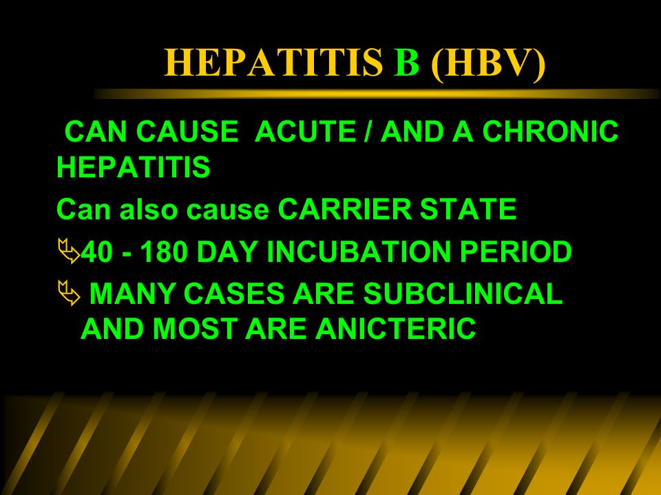 Subclinical hepatitis
