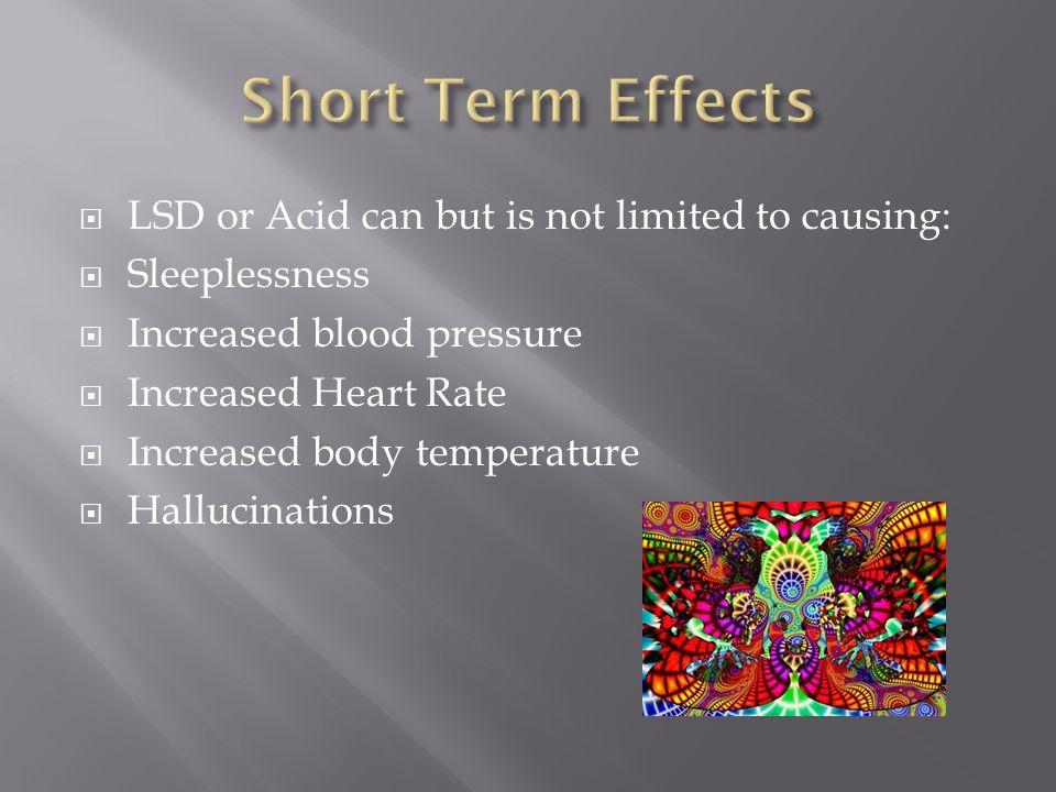 Short term effects lsd