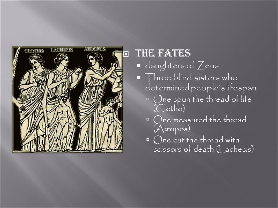 The fates daughters of Zeus