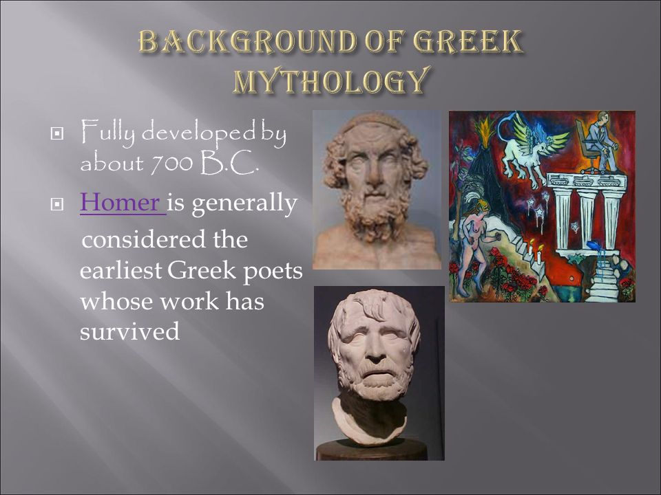 Background of Greek mythology
