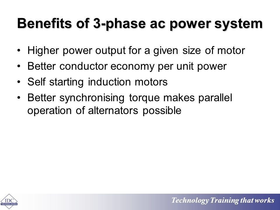 Practical electrical engineering basics ppt video online for Advantages of ac motor