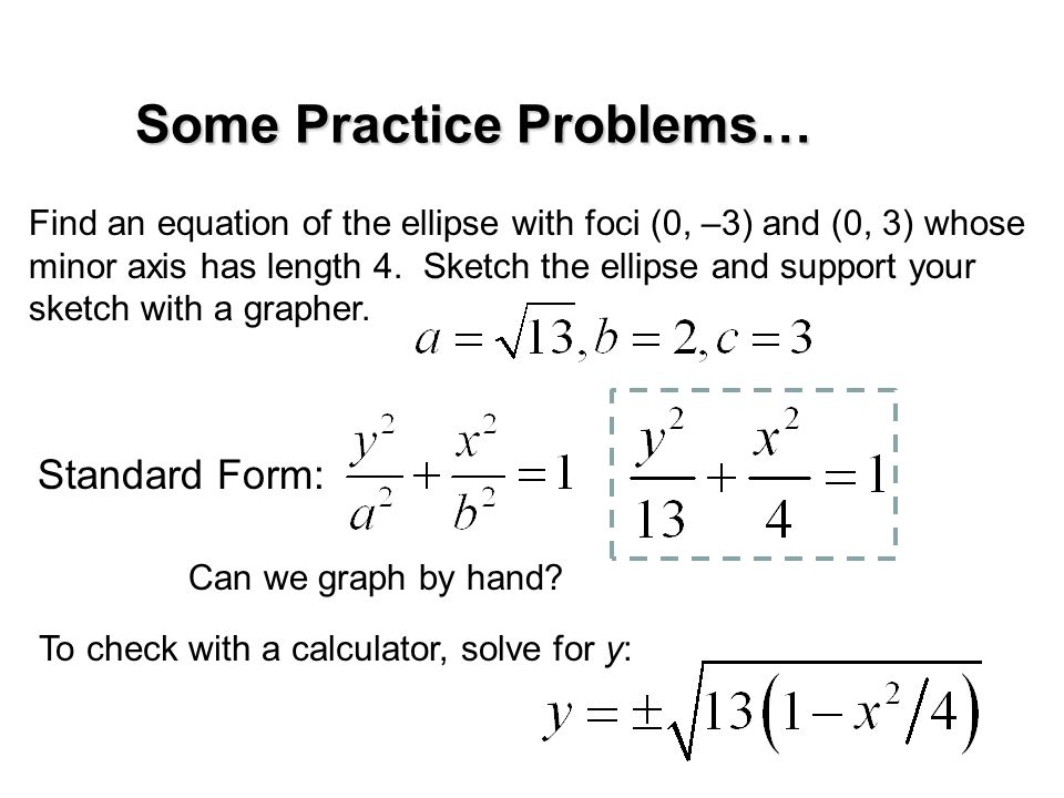 Ellipses On to Sec. 8.2a…. - ppt video online download