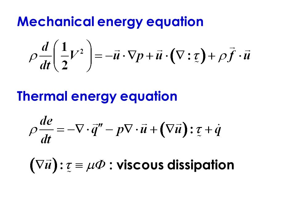 INTRODUCTION TO CONVEC... Formula Of Mechanical Energy