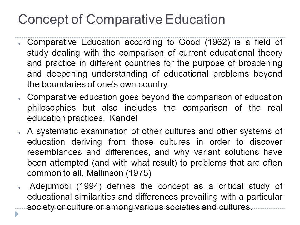 Concept of Comparative Education
