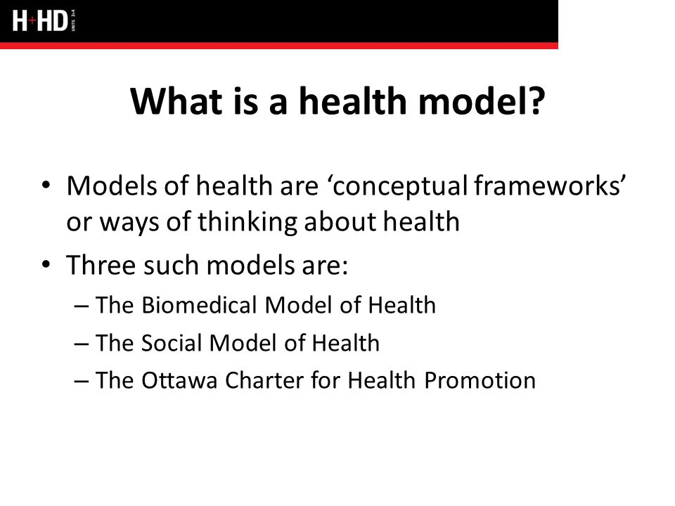 social and biomedical models of health The reason for this is that the biomedical model of health is more likely to be used in post-modernism as they use advance technology to restore the health of human unit 7: sociological perspectives for health and social care.