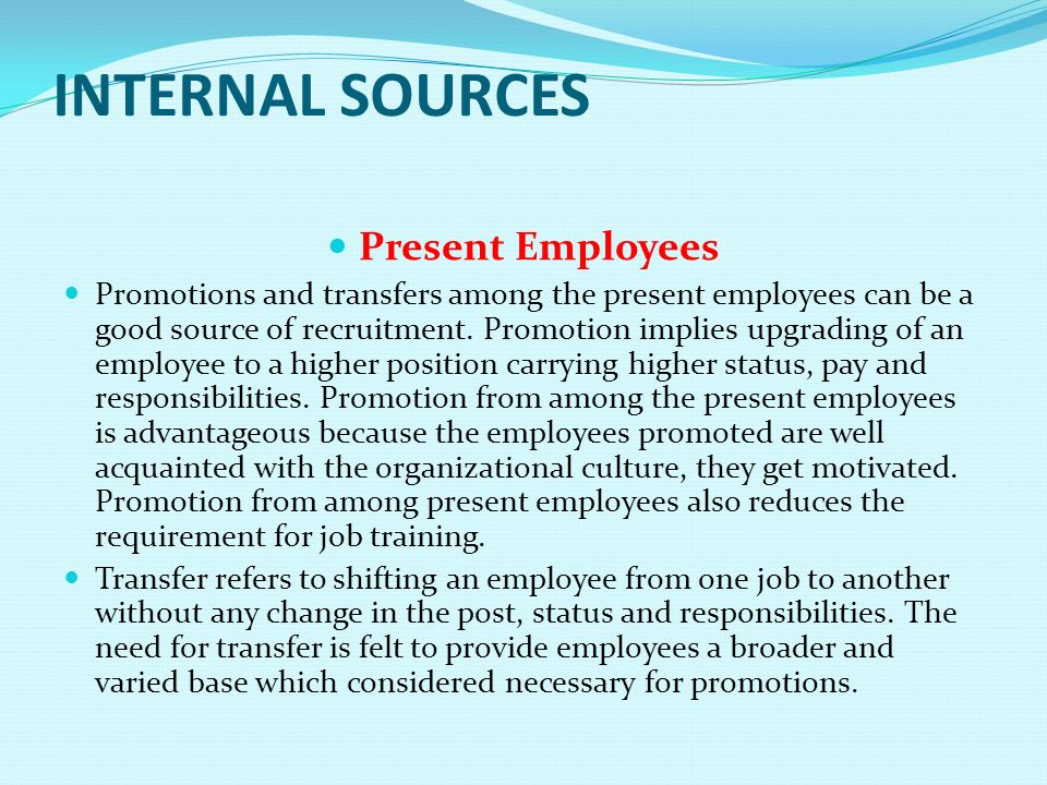 promotion and transfer policies for employees in an organisation Start studying hr chapter 5 learn vocabulary,  personnel policies,  the hiring and rapid promotion of the boss's son or the boss's daughter, or even the.