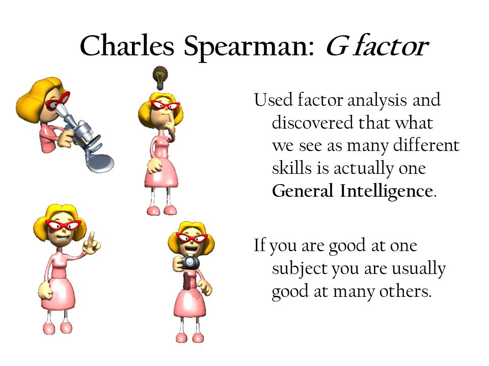 an introduction to the differences between spearman and gardner Charles spearman advanced two-factor theory of intelligence in 1927 it was a theory of trait organization based on the statistical analysis of test scores what is the difference between gdp at market price and gdp at factor cost.
