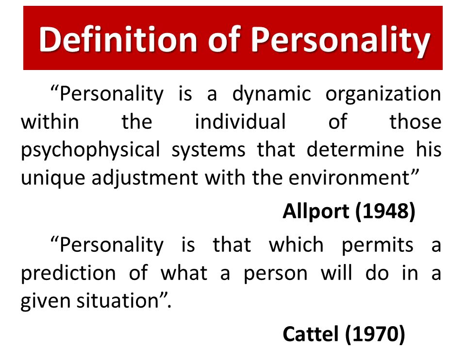 allport theory of personality pdf