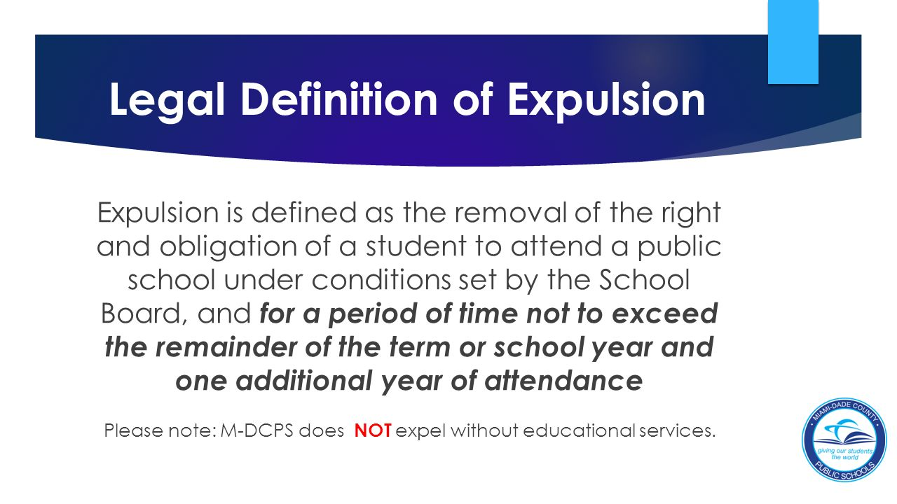 Legal Definition Of Expulsion