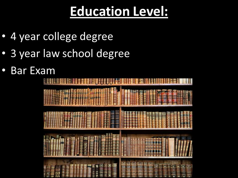 Law degree years of study