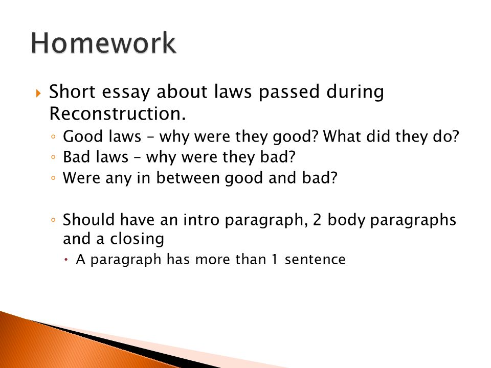 reconstruction short ppt video online  homework short essay about laws passed during reconstruction