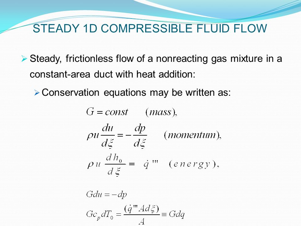 channel flow of a compressible fluid 24 classification of flow phenomena  246 incompressible and compressible flows  41 fluid statics.